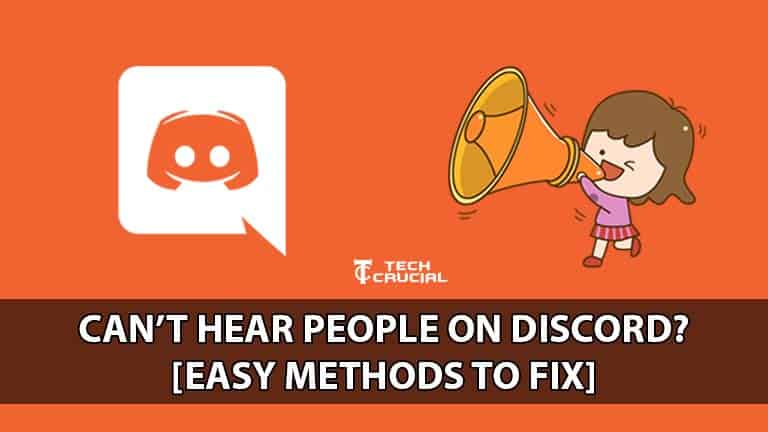 why I can't hear people on discord